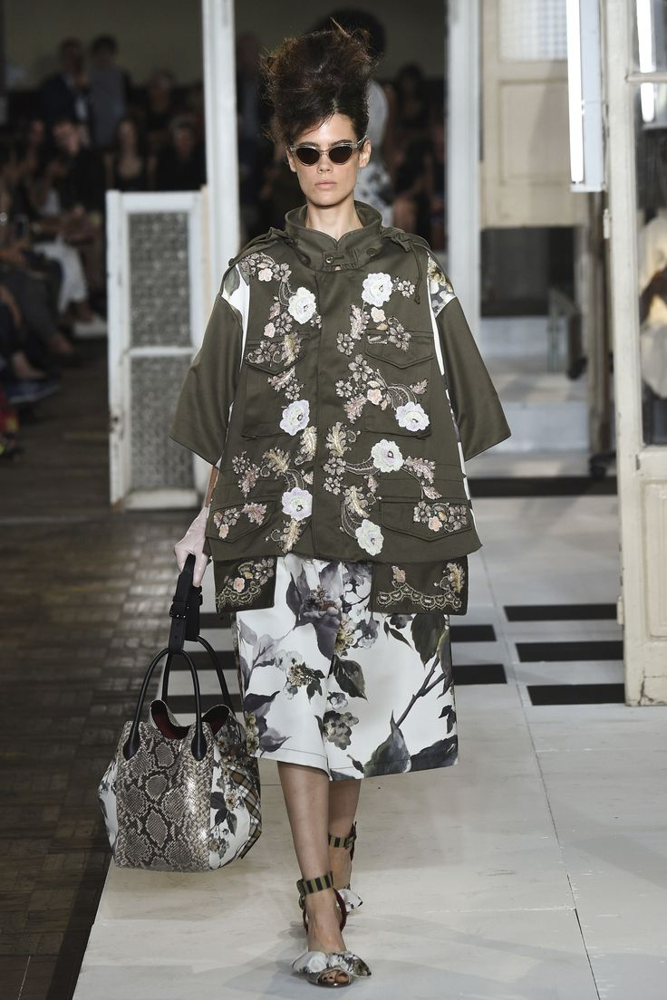 Antonio Marras Spring 2017 Ready-to-Wear Collection Photos - Vogue Khaki + Embroidery Wonderful combination