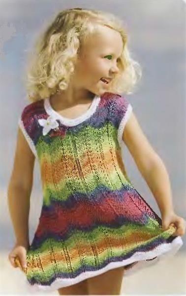 Платье связать ребенку спицами