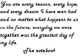 "Love the ""the Notebook"""