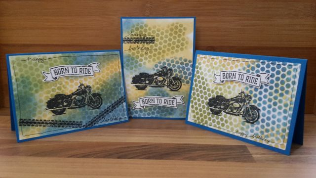 Stampin Up; Born to ride