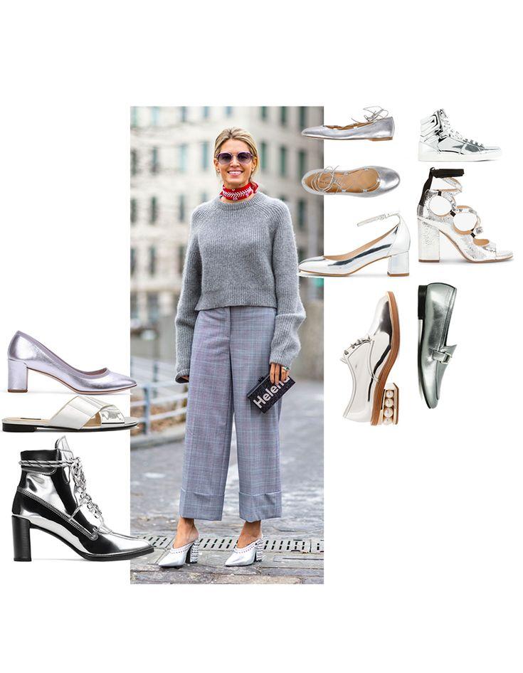 Chaussures miroir : découvrez les plus jolies chaussures métalliques de la saison - Elle