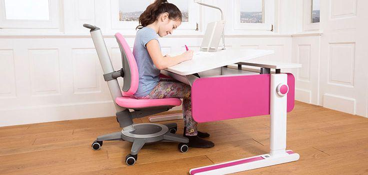 moll Champion style Schreibtisch mit pinken Seiten für Kinder