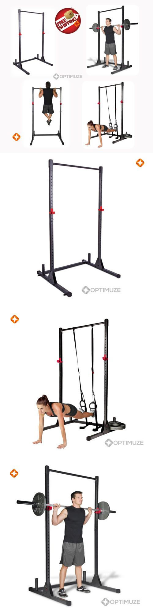 Power Racks and Smith Machines 179815: Home Gym Pull Up Bar Power Rack Exercise Stand Body Building Fitness Station BUY IT NOW ONLY: $111.95