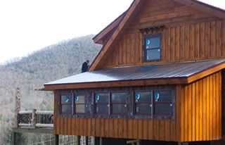 Log homes board and batten and logs on pinterest for Rustic board and batten homes