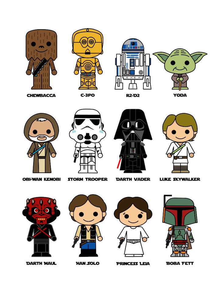 Cute Star Wars 8x10 art print. 15.00, via Etsy. Star