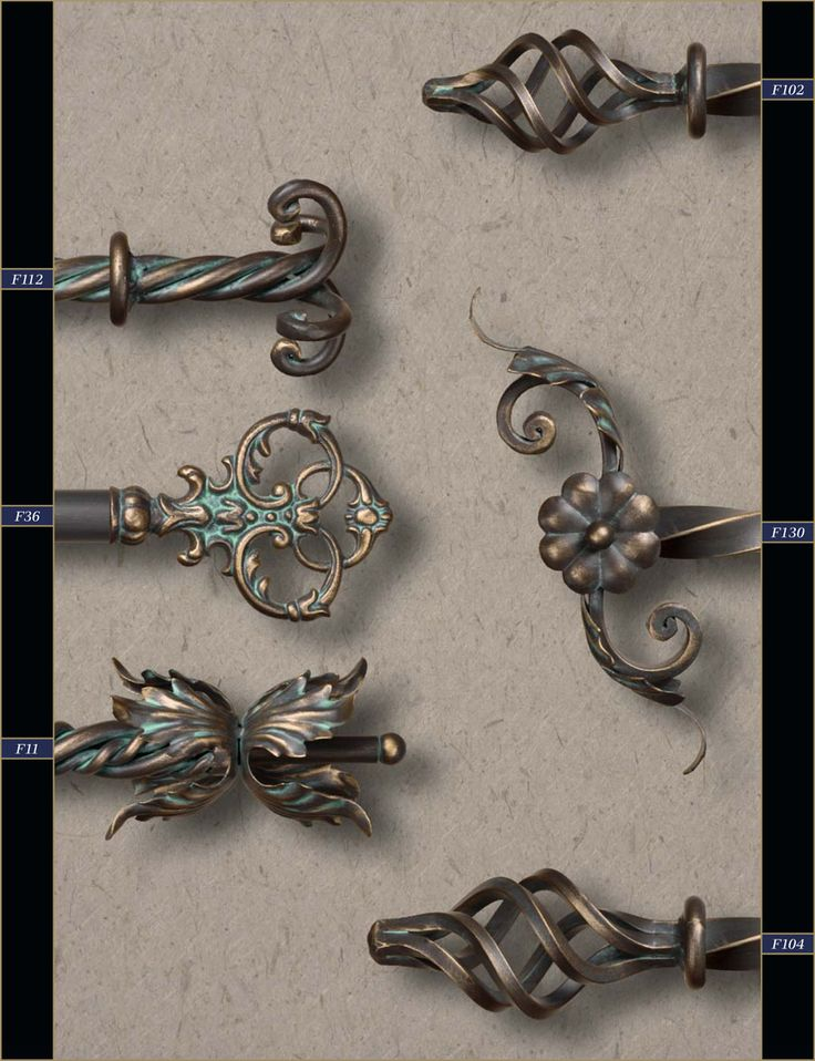 """1"""" Wholesale Wrought Iron Curtain Rods & Finials – Gaby's Shoppe"""
