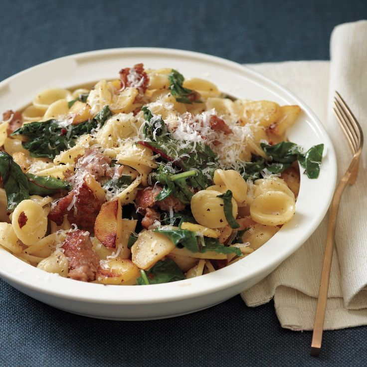 Orecchiette with Sausage, Chard, and Parsnips- just happened to get ...