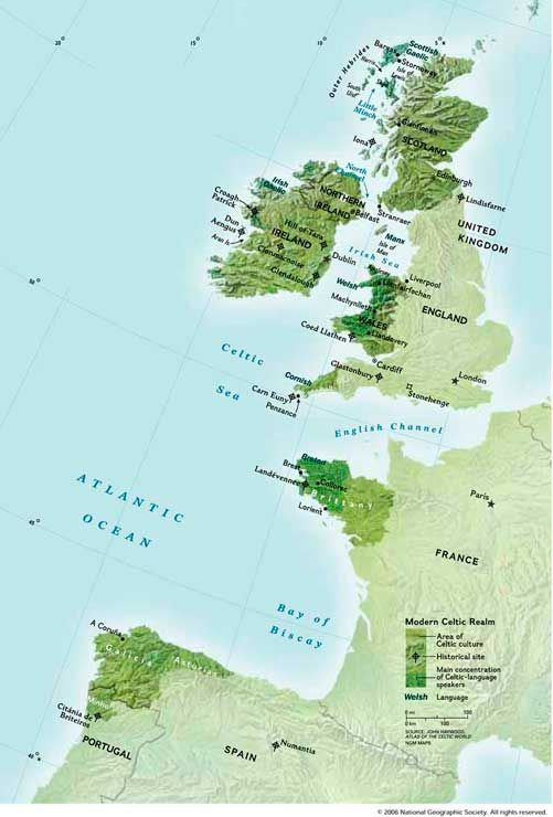 Celtic Nations Map
