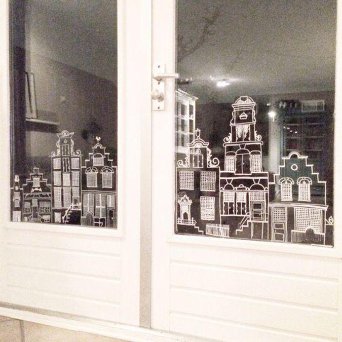 milowcostblog: inspiración: ventanas pintadas