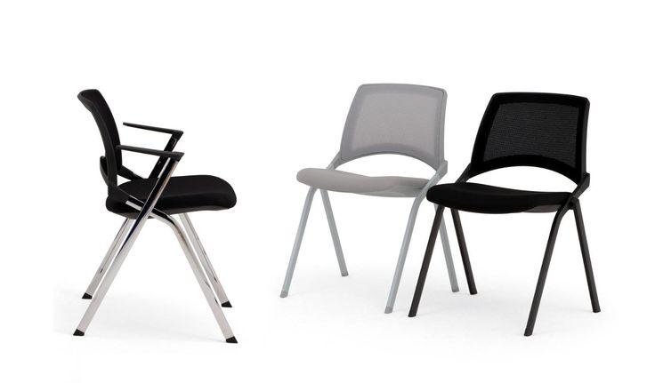 Oplà Mesh, chair with mesh backrest  #ibebi #newcatalogue #innovation #design #chairs #modernchairs #mesh