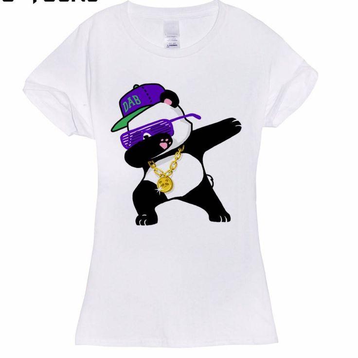Dabbing Panda Ladies T-Shirt by LoveFeNiks on Etsy