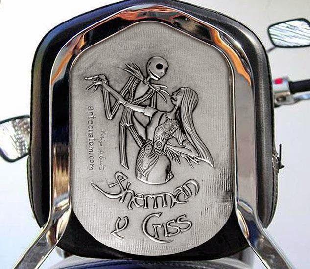 ArteyMetal: Respaldo moto custom (Sherman y Criss)