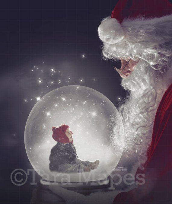 Santa Holding Snow Globe Layered Psd Snowglobe Santa Snow Globe Santa Holiday Christmas Digital Background Backdrop In 2020 Snow Globes Digital Backdrops Photoshop Overlays