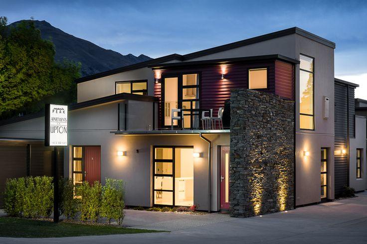 Peak Apartments on Upton, Wanaka. Looking stunning in the evening. Photo by Lightforge - Dennis Radermacher.