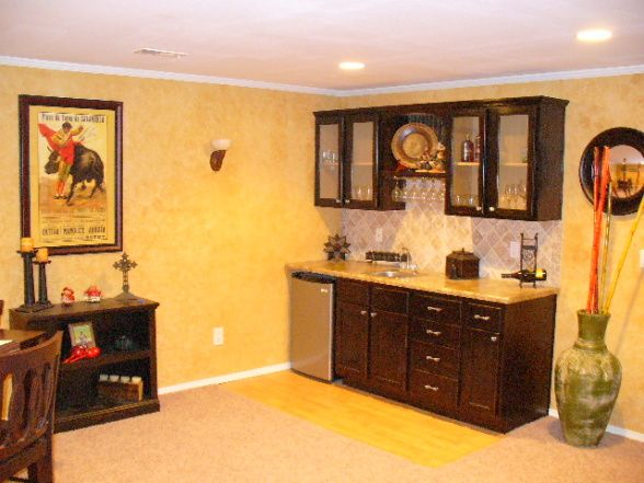Basement Wet Bar Design Catalogs | Basement wet bar, This is our wet bar in our basement. We stained ...