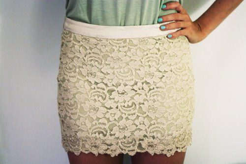 lace <3: Outfits, Fashion, Dreams Closet, Style, Clothing, Dresses, Laceskirt, Cute Skirts, Lace Skirts