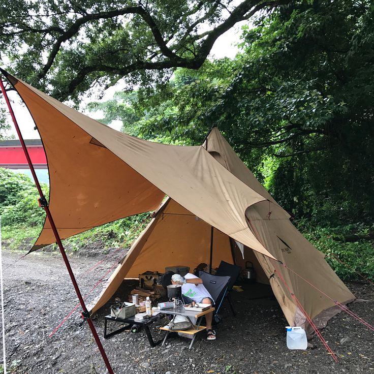 173 Otmetok Nravitsya 29 Kommentariev Purusan263 V Instagram 今日は息子にキーマカレーをご馳走になりますwww またまた雨 の中でテンマク 静岡キャンプ友 Lakeside Camping Tent Camping Tent
