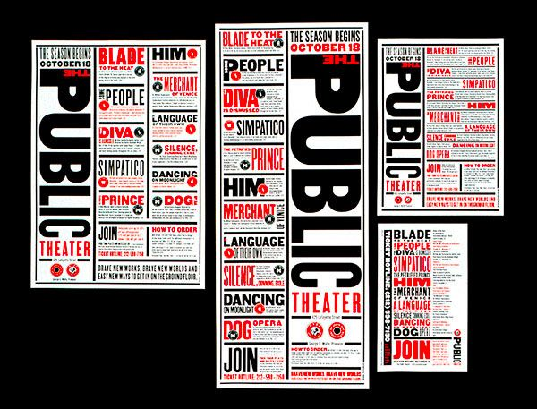 Work by Paula Scher #paulascher #design #inspiration