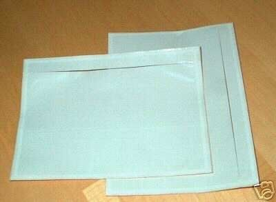"""7"""" x 5.5"""" Clear Adhesive Top Loading Packing List /  Label Envelopes Pouches to place your shipping labels if you use your home printer and paper as an alternative to a label printer"""