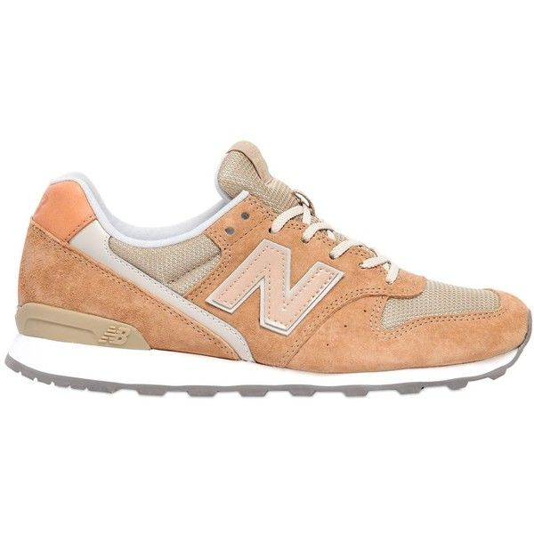 New Balance Women 996 Suede & Mesh Sneakers (2.801.775 VND) ❤ liked on Polyvore featuring shoes, sneakers, beige, suede sneakers, suede leather shoes, new balance shoes, beige suede shoes and rubber sole shoes