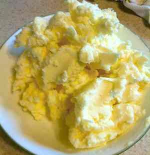 Homemade butter in a few minutes with just your stand mixer and cream.