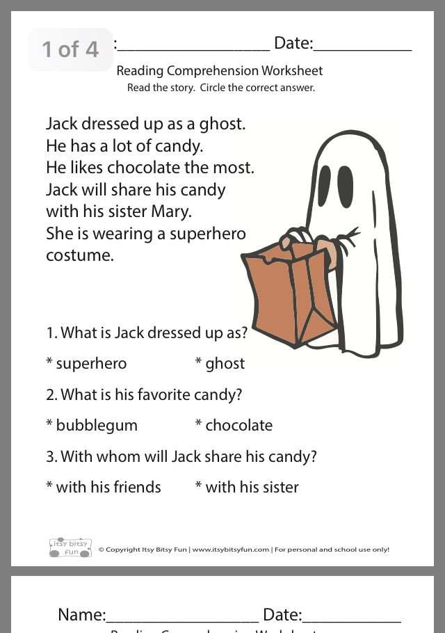 Pin By Connie Govenettio On Reading Free Reading Comprehension Worksheets Reading Comprehension Worksheets Halloween Reading Comprehension