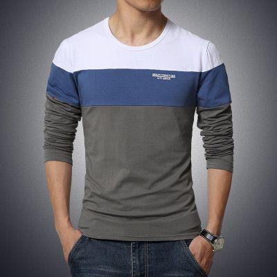 Hot Sale Men Tshirt Fashion T-shirts Summer Wear Long Sleeve 6 Colors 4 Sizes MTL053