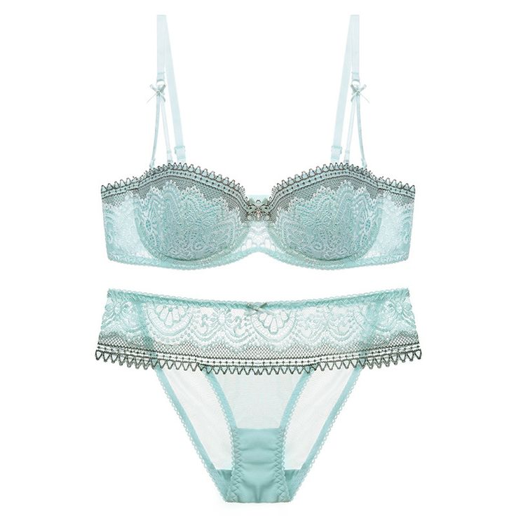 2017 Underwire Bra Half thin cup(1/2 Cup) Sexy Bra Set New Women Plus Size Push Up Underwear and panty 70-85ABCDE cup