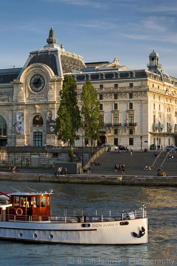 European Travel| Musee d'Orsay and River Seine, Paris France. © Brian Jannsen Photography