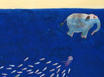 Alle vissen vonden olifant - (All Fish Find Elephant) by Martijn van der Linden - ILLUSTRATOR (Netherlands)