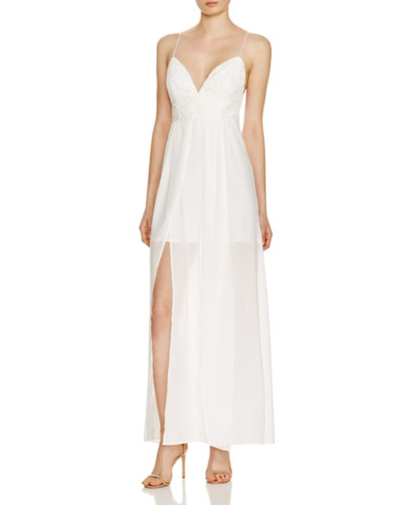 The Jetset Diaries Private Beach Embroidered Maxi Dress