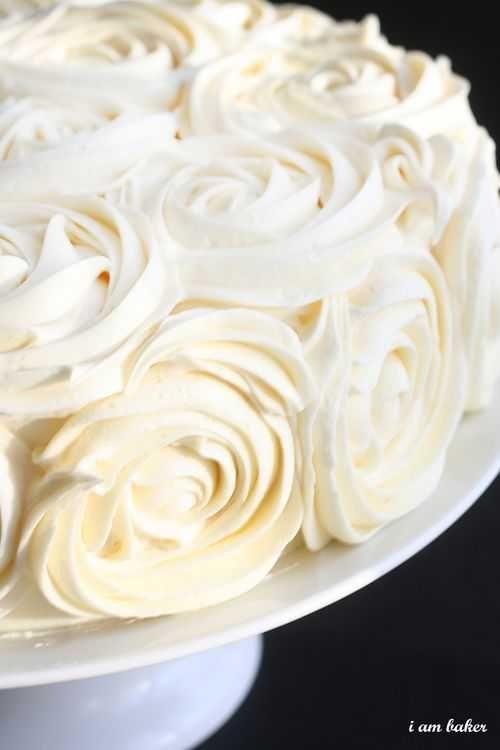 Rose cake tutorial.