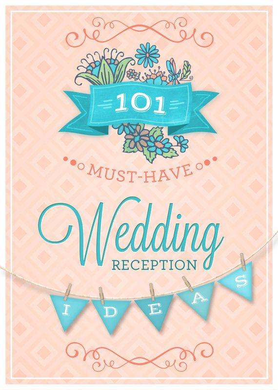 If you are in need of some ideas for your reception that are creative and unique, look no further.This wonderful ebook has so many original and