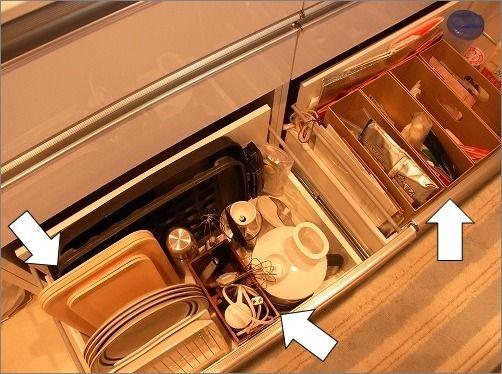 BEFORE 整理収納サービス でお伺いしましたH様宅のキッチンです。 (※掲載許可を頂いております。)  一番下の深い引出しですが、お伺いすると...