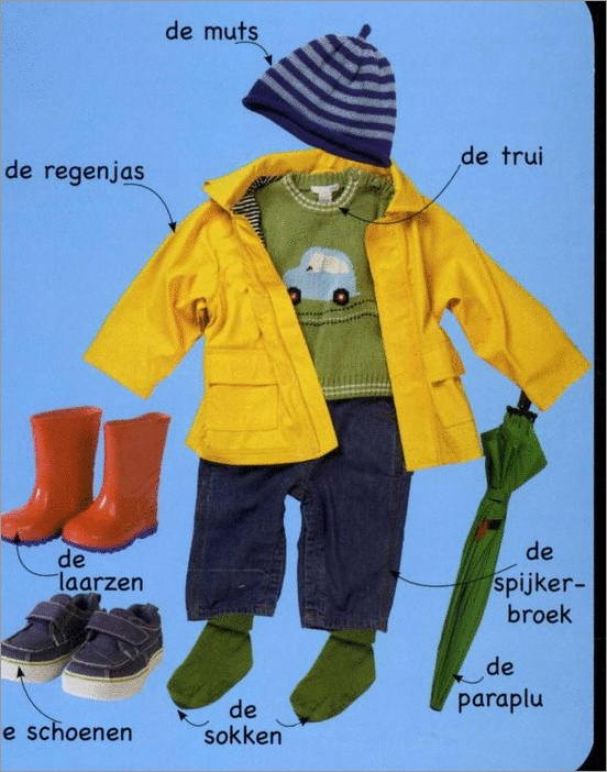 Learning Dutch words - getting dressed