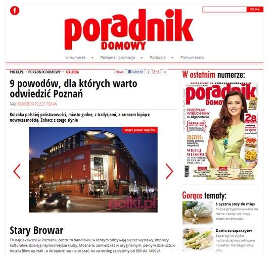 """2013.05.24 Poradnik domowy: """"9 powodów, dla których warto odwiedzić Poznań"""" - http://polki.pl/poradnik-domowy_galeria.html?galg_id=10013716_center_03_page_no=2"""