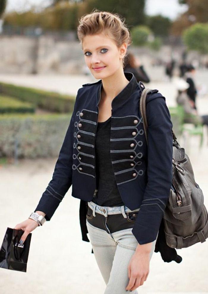 17 best ideas about veste officier femme on pinterest veste officier t shirt black m femme. Black Bedroom Furniture Sets. Home Design Ideas