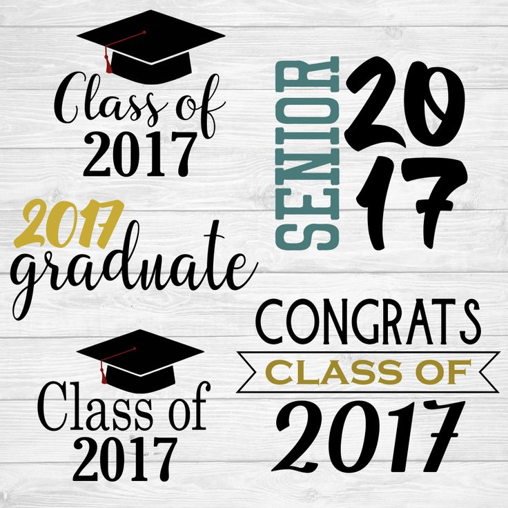 2017 Graduation SVG Cut Files, Senior, Congrats, Class of 2017, Flash Freebie www.etsy.com/shop/MyGraceLynnDesigns