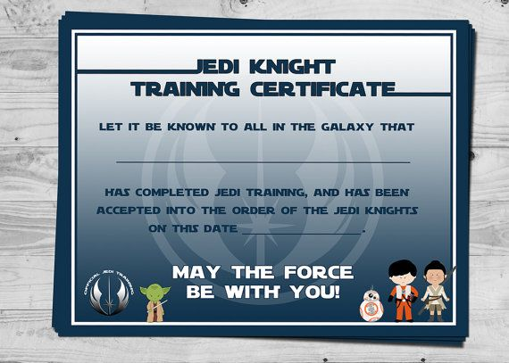 The 25+ best Training certificate ideas on Pinterest Jedi games - sample training certificate