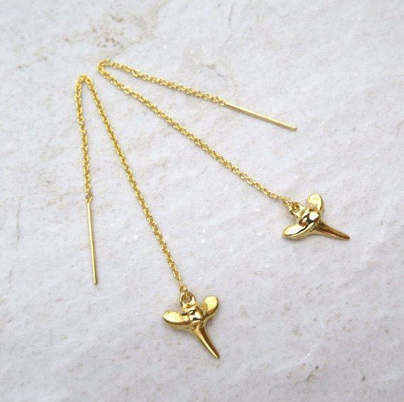 Shark Tooth and Chain Dangles