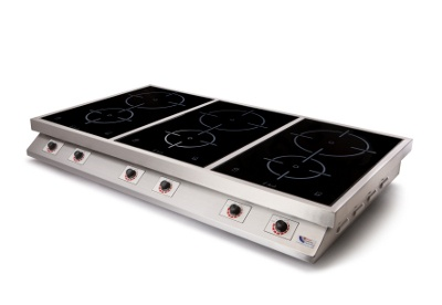 6 Ring Induction Hob - 9kW Light Duty Tabletop Hob