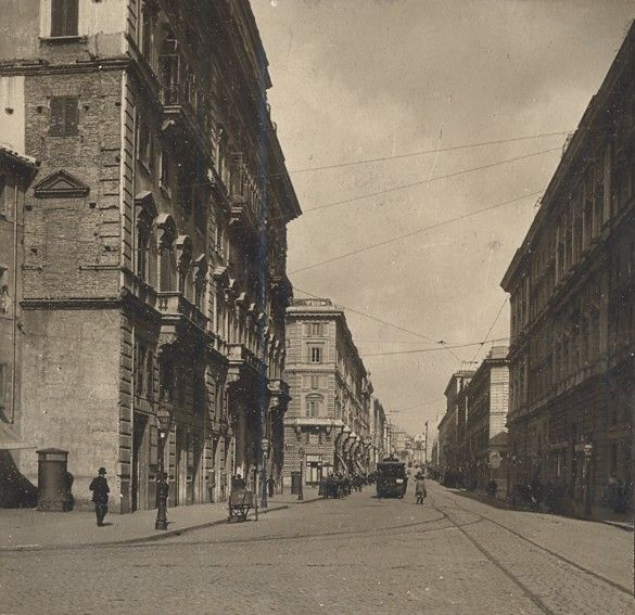 Italy Roma Via Cavour Old Stereo Photo SIP 1900