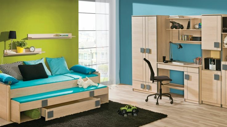 kinderzimmer f r jungs kinderzimmergestaltung in blau und gr n kinderzimmer babyzimmer. Black Bedroom Furniture Sets. Home Design Ideas