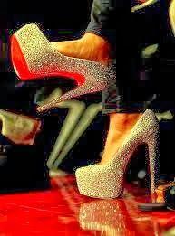 Shining high heel sandal
