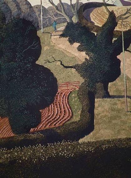 """Up to the Farm"" by Simon Palmer (watercolour)"