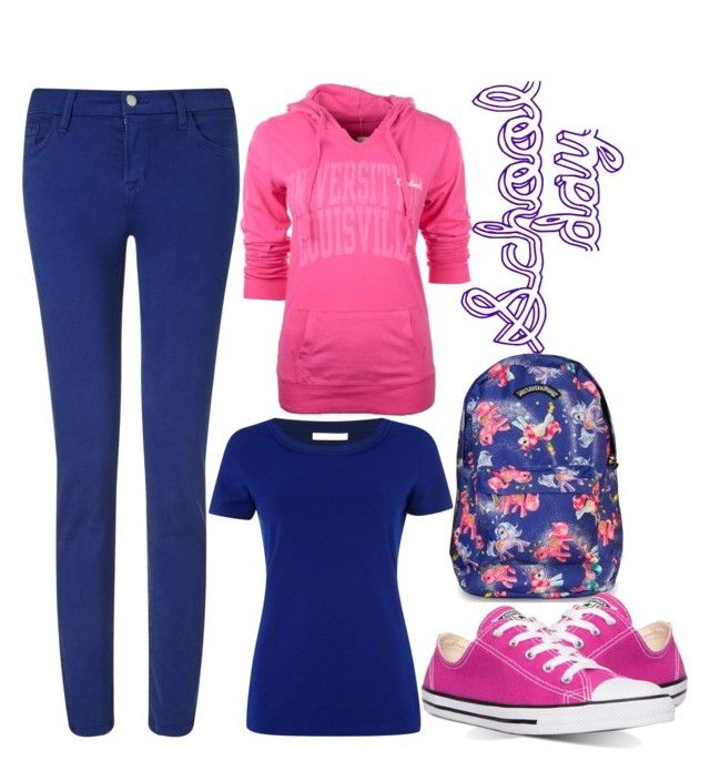 School day by slytheriner on Polyvore featuring HUGO, Camp David, J Brand and Converse