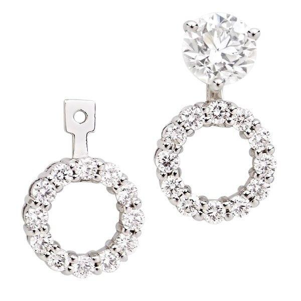 14kt White Gold Diamond Earring Jackets