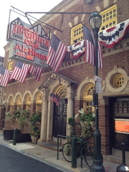 Owner William McGillin opened McGillin's in 1860! He and his wife raised 16 children in the apartment above the bar.   Learn more about it on the #StrayBoots #CenterCity tour! www.strayboots.com