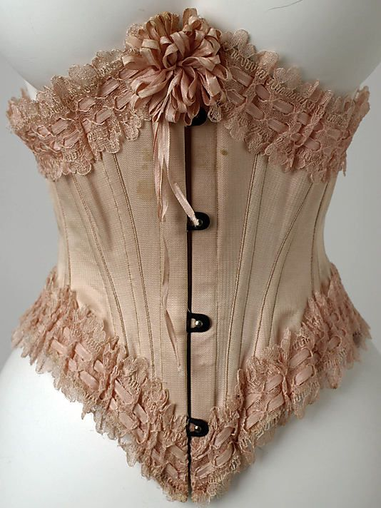 """c1900 French Corset labeled """"Stern Bros. Paris - New York""""; """"Made in France"""" http://www.metmuseum.org/collections/search-the-collections/80007981?rpp=60=4=corset=2#"""