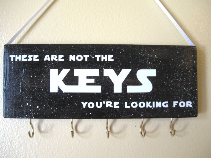 Star Wars key holder by LetterThings on Etsy https://www.etsy.com/listing/231439021/star-wars-key-holder
